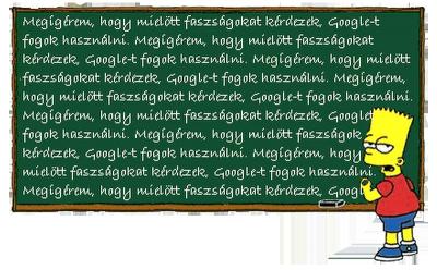 Bart Simpson: Google a barátod!
