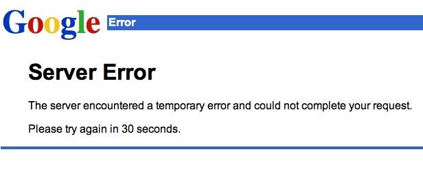 Google mail hibaüzenet