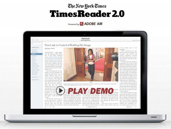 Times Reader egy Apple MacBook-on