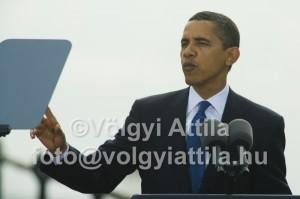 Obama keresi szövege lényegét a súgógépen