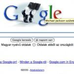 Michael Jacksont ünnepli a Google