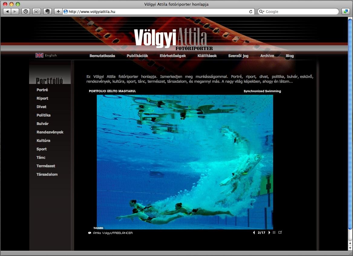 VolgyiAttilaHU_honlap_site_screenshot