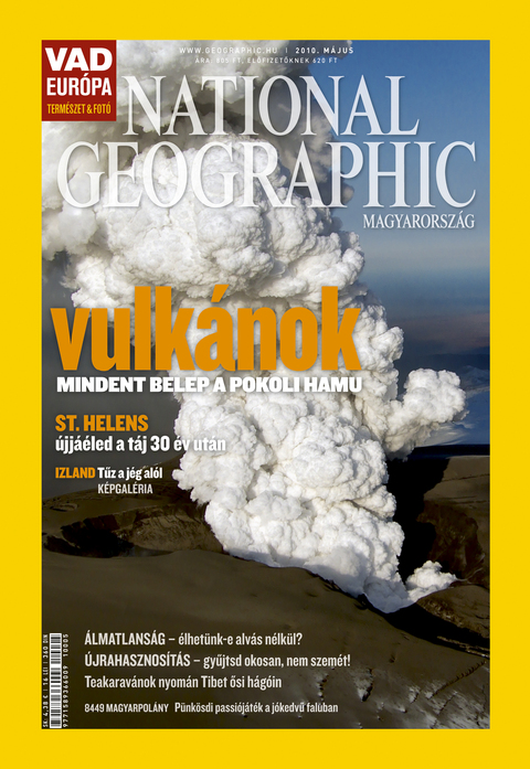 NationalGeographic 2010 majus peldany National Geographicen a vulkán