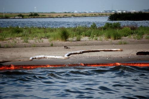 Mexico-gulf-oil-spill-boom-Georgianne Nienaber