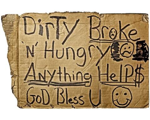 Hajléktalan-felirat