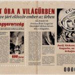 Gagarin bélyeg újság formára tervezve