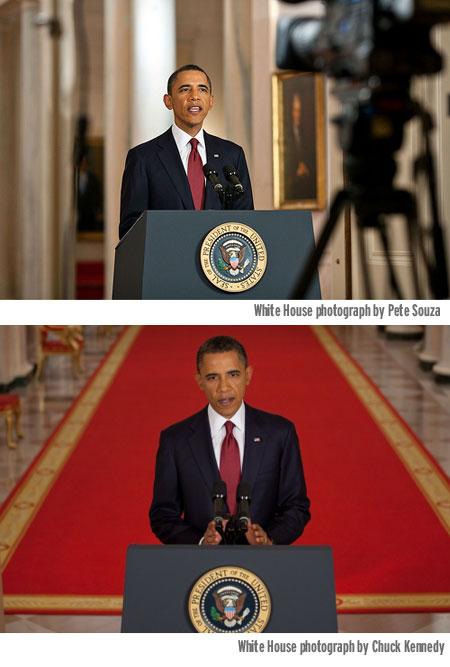 ObamaTVspeach-WhiteHouse-handout-PeteSouza&ChuckKennedy