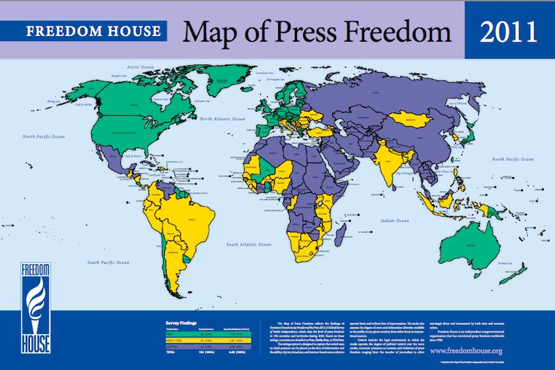 PressFreedomMap2011