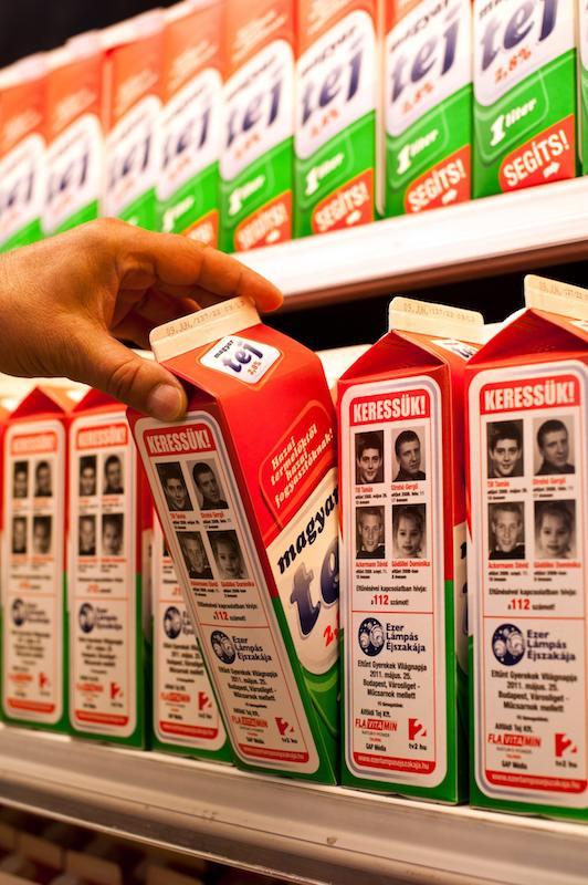 Tá¡rsadalom - Eltűnt gyerekek fotói élelmiszereken
