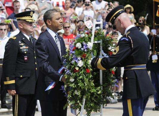 Obama-MemorialDay-photoJonathanErnstReuters