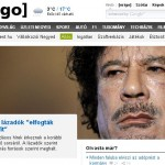 Kadhafi véres hullája a címlapon