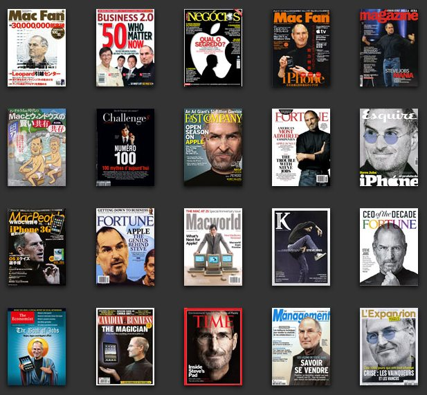 SteveJobs-magazinCovers