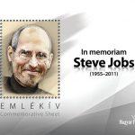 Steve Jobs emlékbélyeg a Magyar Postától