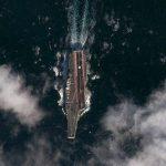 Légifotó a Varyagról a nyílt tengeren