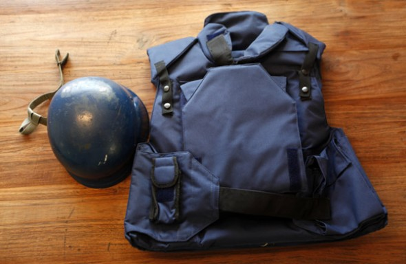 WarPhotographer-pack-helmetWest-photoUmitBektasReuters
