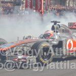 Formula-1 promó a belvárosban, kisebb szakmai beégéssel