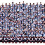 541 fős olimpiai csapat egyetlen fotómozaikon
