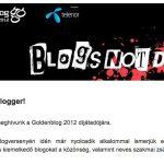Meghívtak a Goldenblog díjátadójára