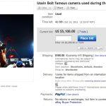 Újraindították Bolt fényképezőgép aukcióját