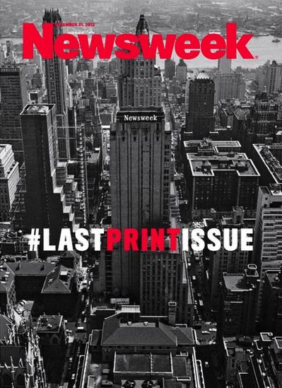 A 2012-es utolsó print címlap