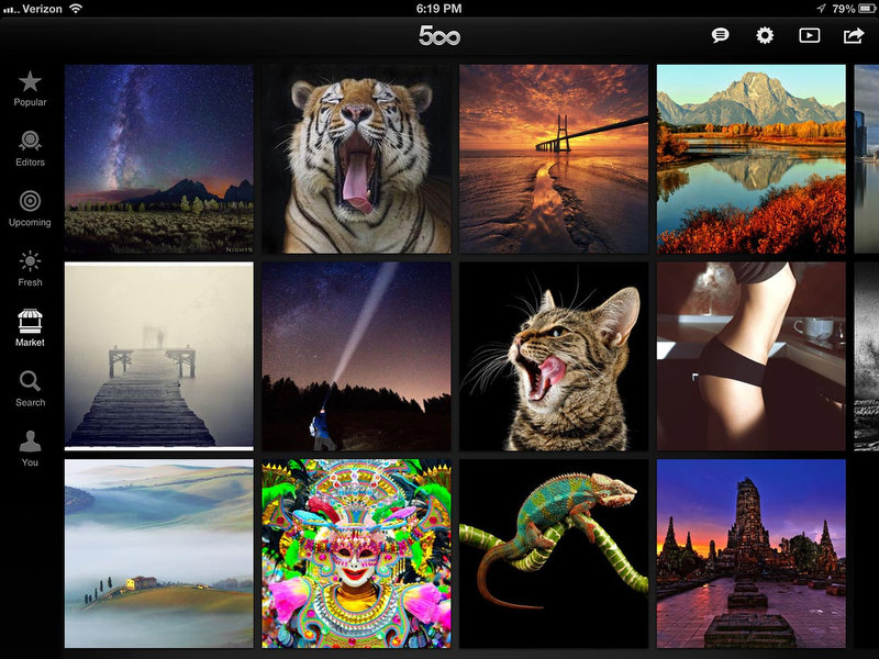 500px_iPad_screenshot