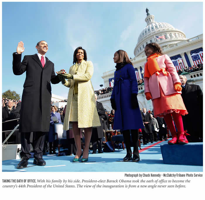 BarackObama Inauguration remote photoChuckKennedyMcClatchyTribune Az elnöki beiktatások történetének legkülönlegesebb képe