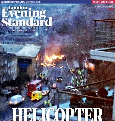 London Evening Standard cover photo by Craig Jenner shared on Twitter