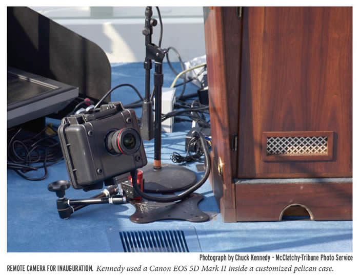 Obama Inauguration remote behindTheScenes photoChuckKennedyMcClatchyTribune Az elnöki beiktatások történetének legkülönlegesebb képe