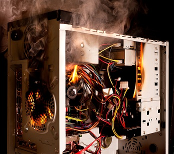 Computer burning