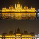 Felvillant a Parlament új fényárja
