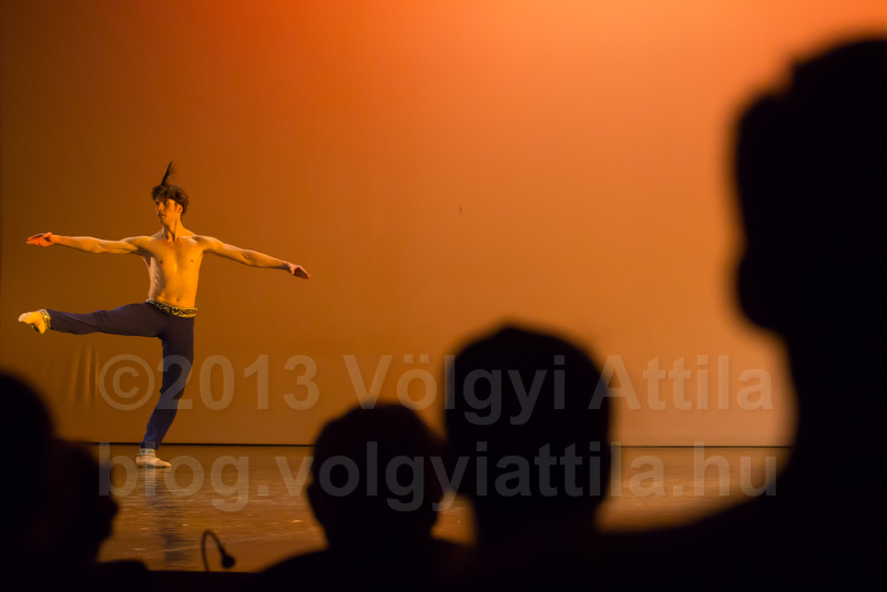 Ilya Artamonov (RUS) performs during the Rudolf Nureyev ballet international competition held in Budapest
