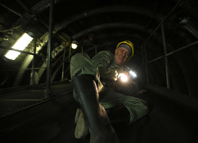 Fotós a bányában