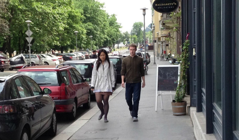 Mark Zuckerberg and Priscila Chan in Budapest, Hungary