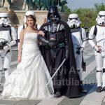 Fantasztikus esküvői fotók a Hősök terén