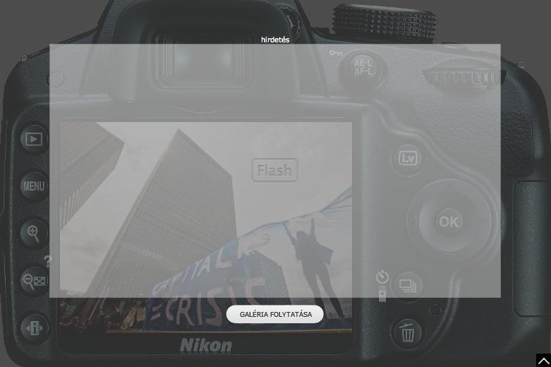 Hír24 galéria Nikon reklámmal
