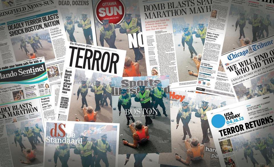 John Tlumacki képe különböző címlapokon