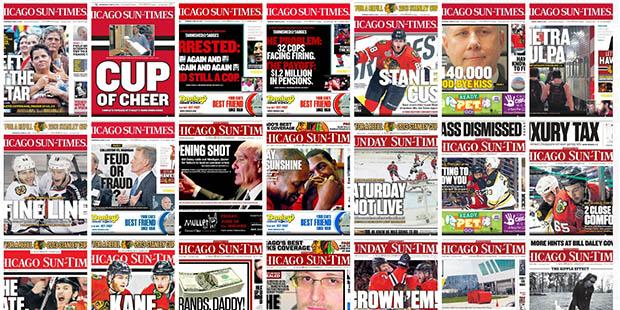 Chicago Sun-Times címlapok