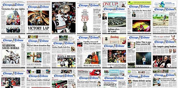 Chicago Tribune címlapok
