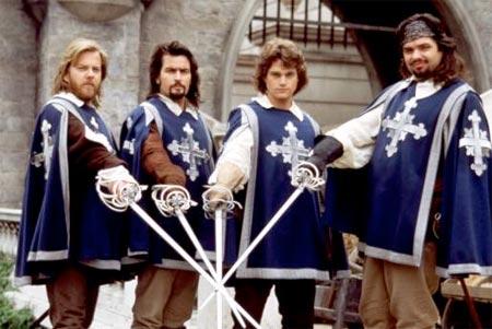 Ők négyen a Három testőr - az eredeti vívócsapat