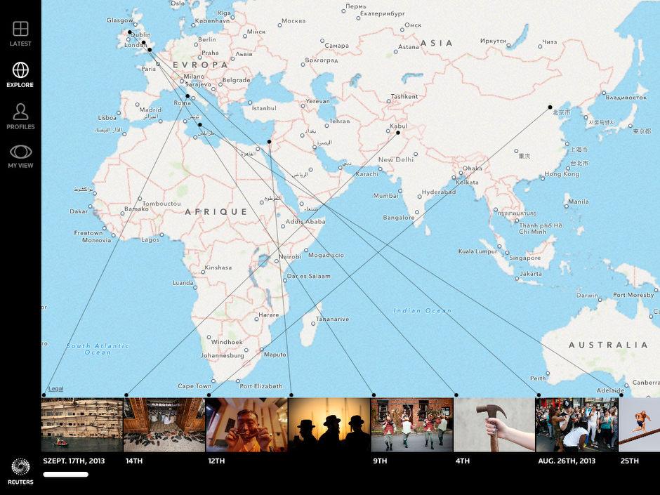 Képes történetek a térképen