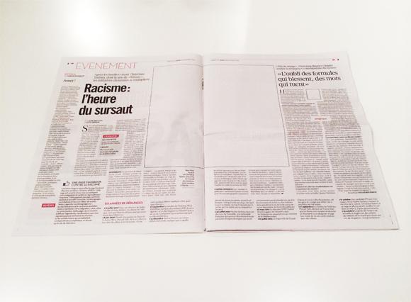 Libération belső oldal képek nélkül