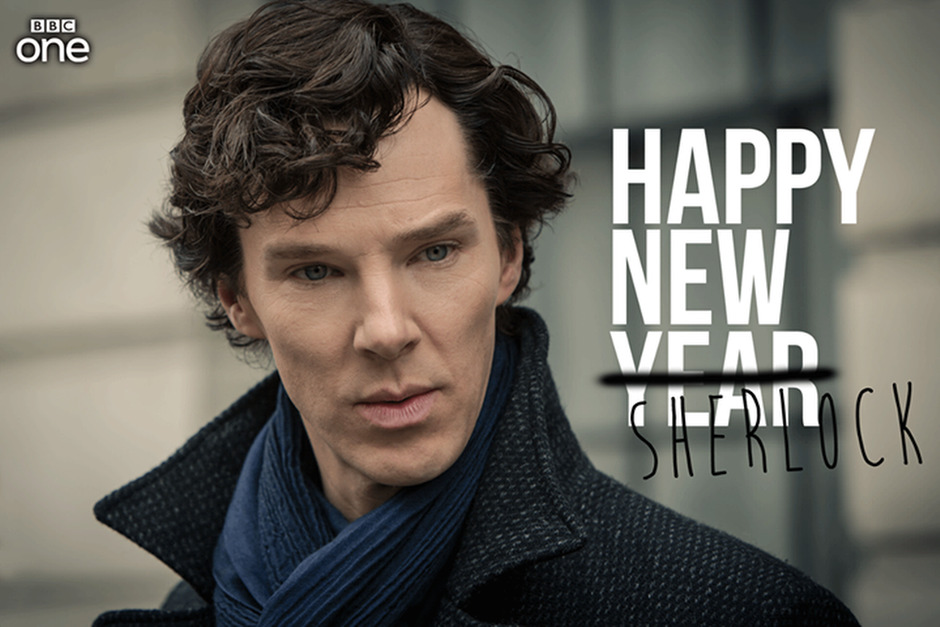 Boldog új évet Sherlockot mindenkinek! Fotó: BBC