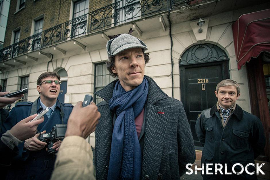 Sherlock filmbeli sajtótájékoztatójaFotó: BBC