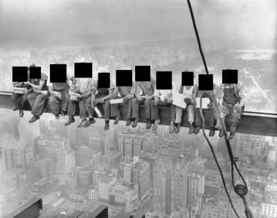Fotó: Charles C. Ebbets - Lunch atop a Skyscraper, 1932, Maszkolás: 444