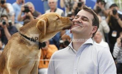 Mundruczó Kornél és Hagen csókja Fotó: Alastair Grant/AP