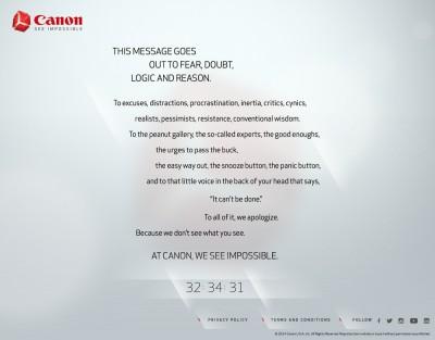 The new Canon site