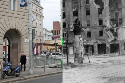 Üllői út - József körút kereszteződése, szemben a Corvin közKészítő ismeretlenForrás: Abcúg/Fortepan
