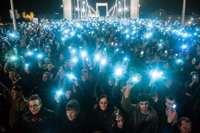 Jól nézett ki a hídon állva isFotó: Móricz-Sabján Simon/Népszabadság