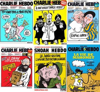 A Heti Válasz válogatása a Charlie Hebdo vallásos témájú címlapjaibólVéleménycikkért katt a képre!