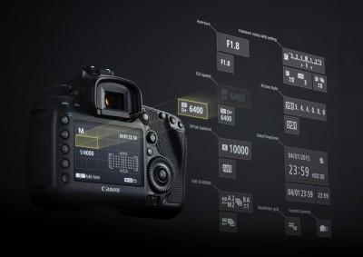 Testreszabható kijelzőFotó: Canon
